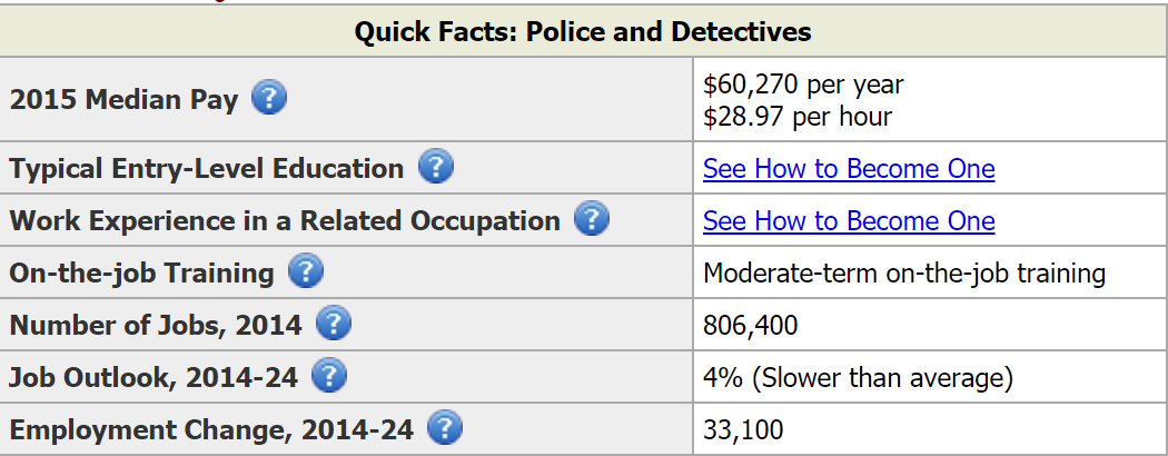 Washington police officer career summary
